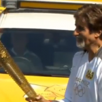 Actor Amitabh Bachchan carries Olympic Flame!